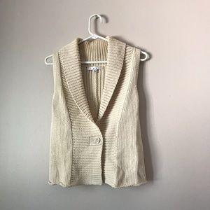 CAbi knit vest sleeveless button sweater style 869
